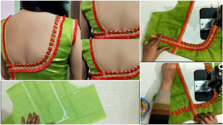 Beautiful blouse design stiching