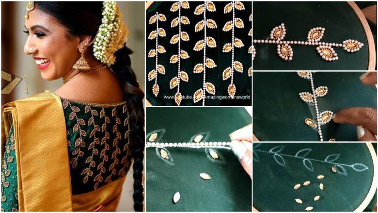 Beautiful bridal blouse design