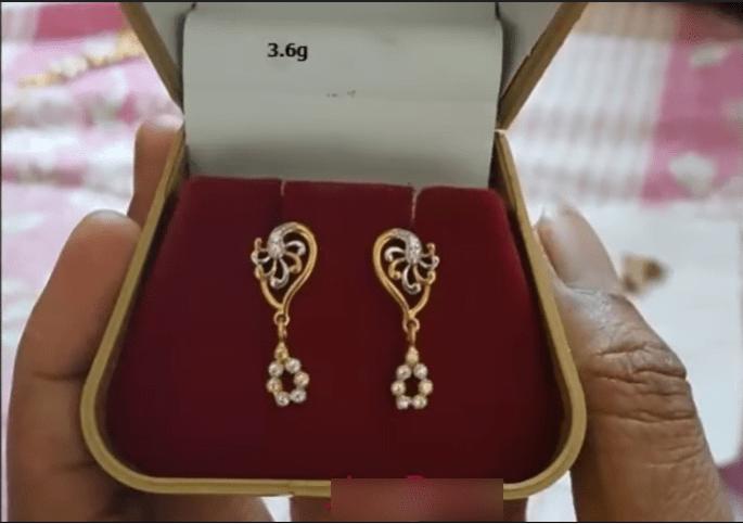 Beautiful light weight gold earrings designs 1