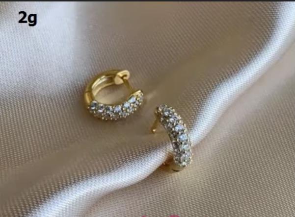 Beautiful light weight gold earrings designs 12