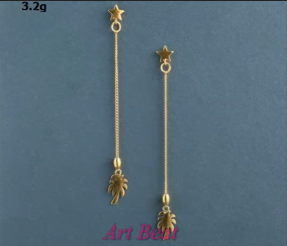 Beautiful light weight gold earrings designs 17