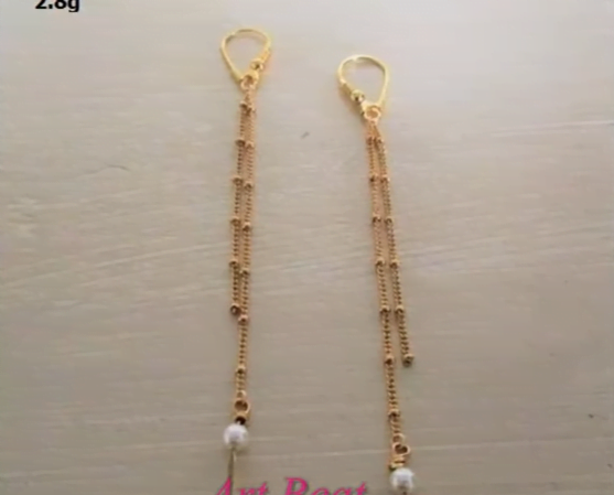 Beautiful light weight gold earrings designs 18