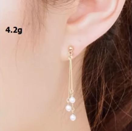 Beautiful light weight gold earrings designs 4