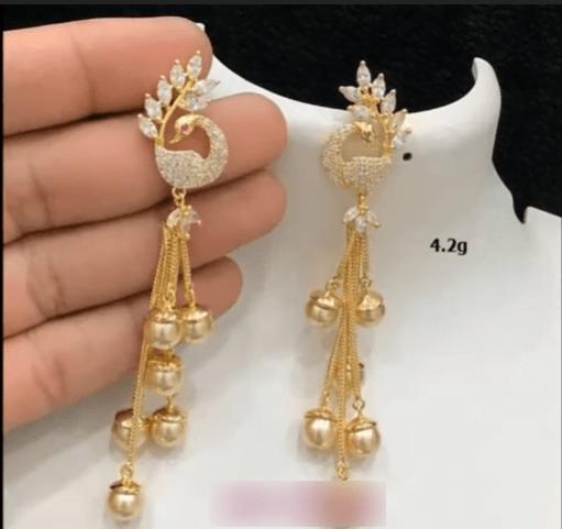 Beautiful light weight gold earrings designs 6