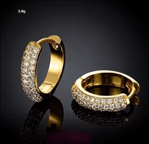 Beautiful light weight gold earrings designs 9