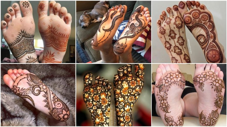 Best mehandi designs on the sole of the foot