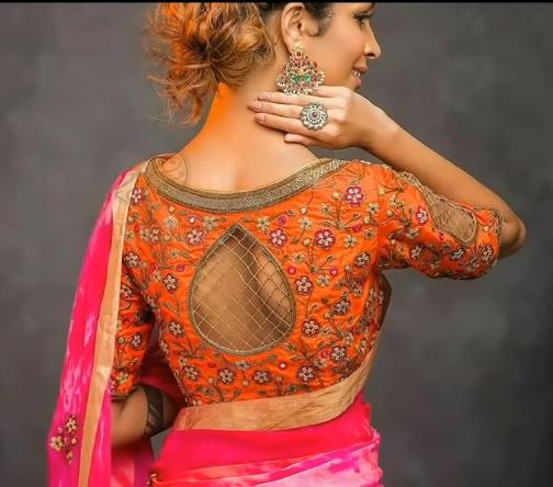 beautiful designer blouse model