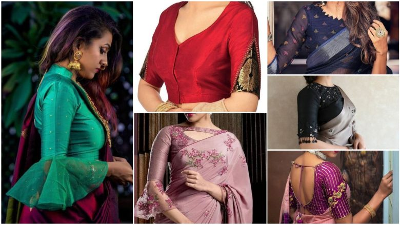 Best saree blouse sleeve designs images