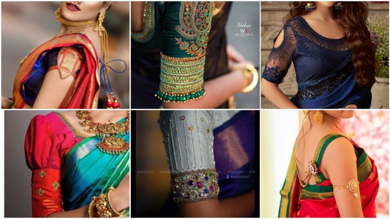Blouse Sleeve Designs for Silk Sarees