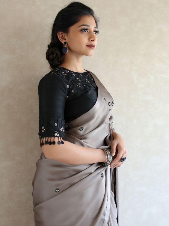 black stylish blouse design