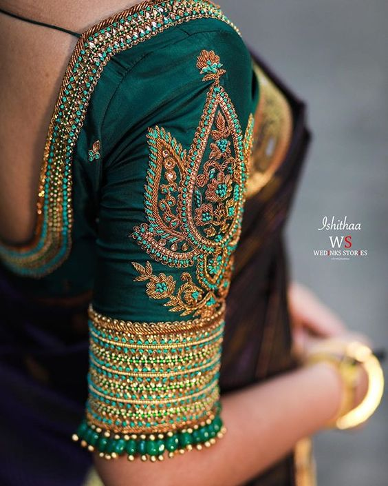 heavy work bridal blouse design