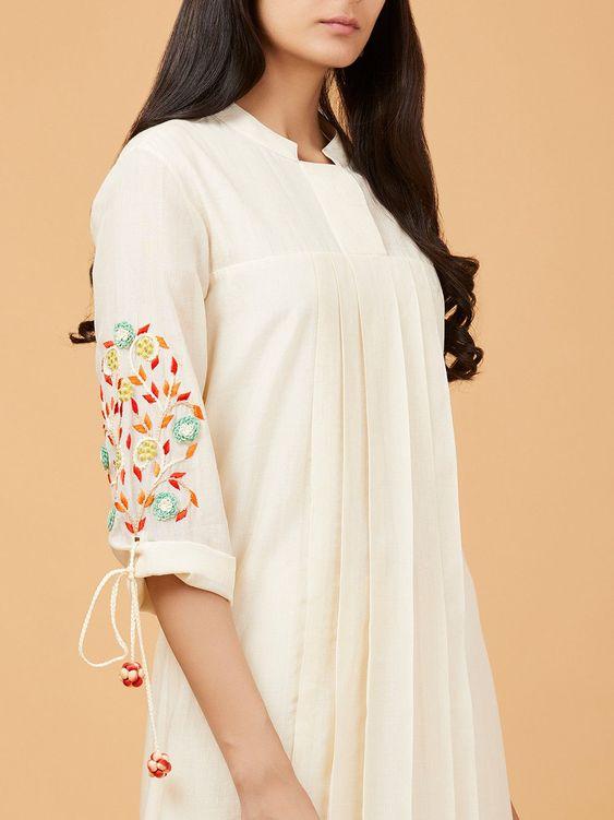 off-white stylish kurti