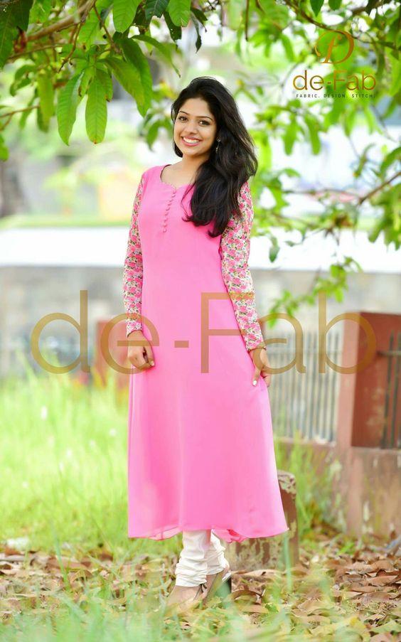 stylish rose kurti
