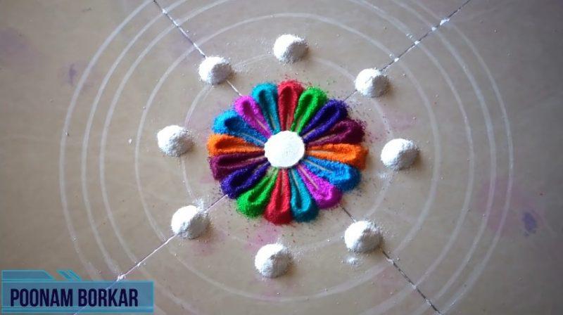 Colorful attractive and unique rangoli design for festivals 4