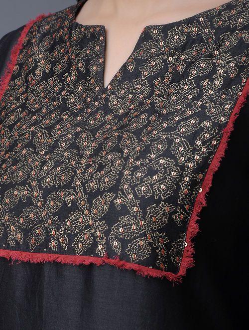black stylish kurti design