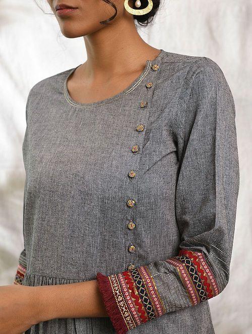 full sleeve gray kurti