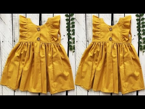 Designer cute baby frock for 1-2 year baby girl