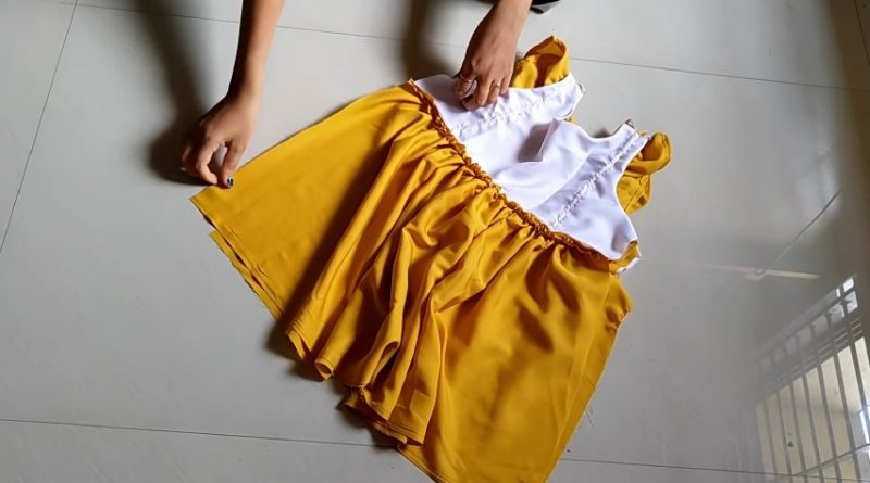 Designer cute baby frock for 1-2 year baby girl5