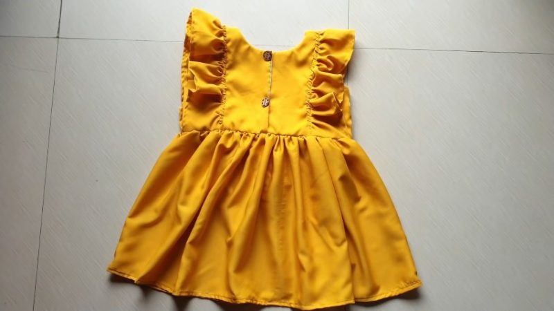 Designer cute baby frock for 1-2 year baby girl7