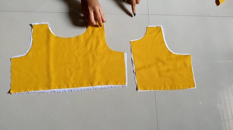 stiching with lining cloth