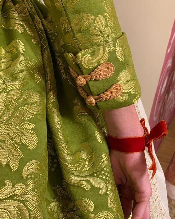 green churidar designer sleeve