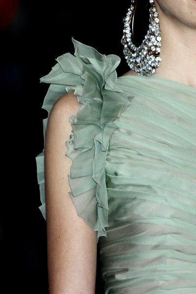 designer ruffled sleeve