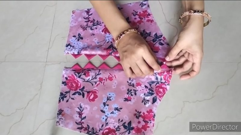 Designer sleeves cutting and stitching 11