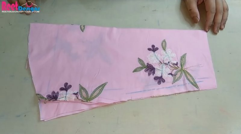 Designer sleeves cutting and stitching 17