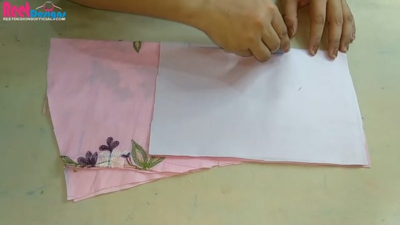 Designer sleeves cutting and stitching 19