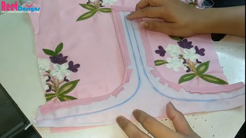 Designer sleeves cutting and stitching 23