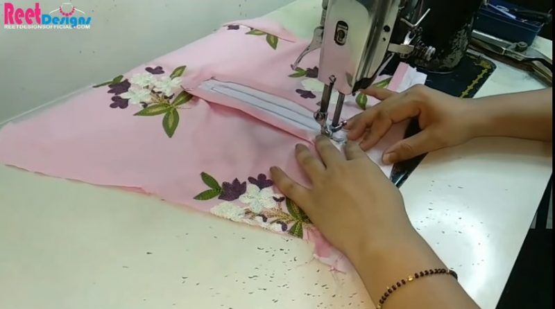 Designer sleeves cutting and stitching 24