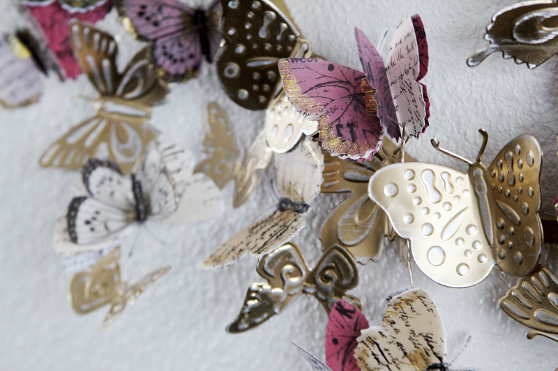 Die-cut aluminum butterfly wreath 14