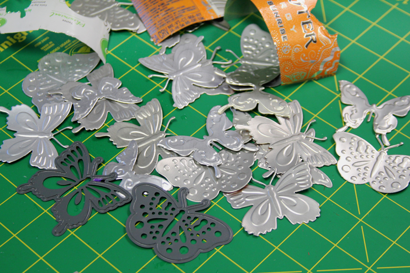 Die-cut aluminum butterfly wreath 9