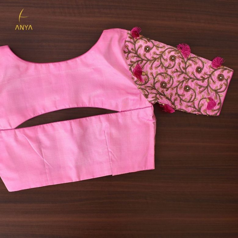 heavy embroidery design blouse