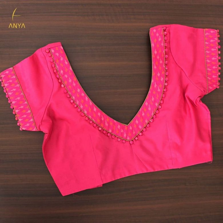simple and elegant rose blouse
