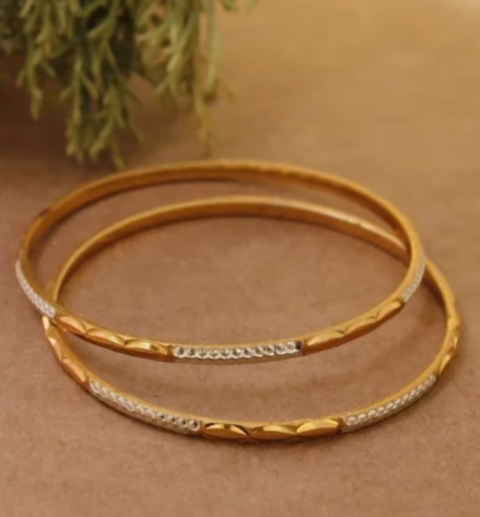 Exclusive gold bangles designs 10