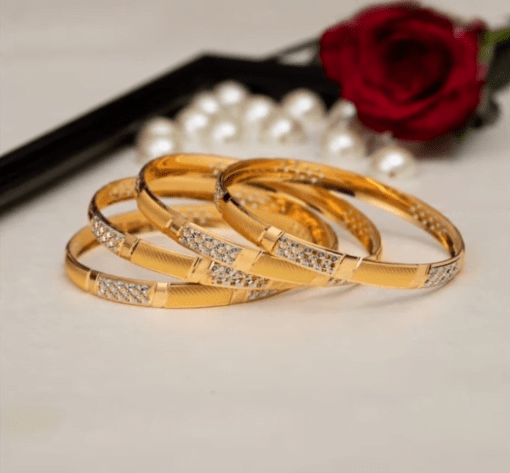 Exclusive gold bangles designs 16