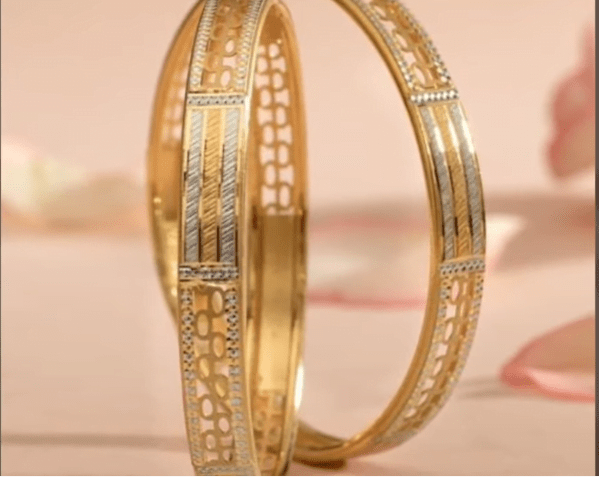 Exclusive gold bangles designs 17