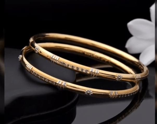Exclusive gold bangles designs 18