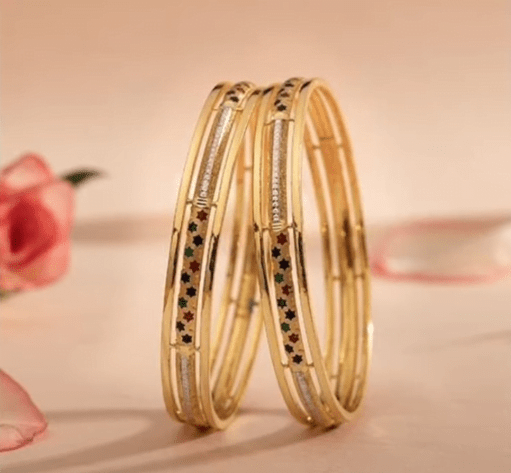 Exclusive gold bangles designs 3