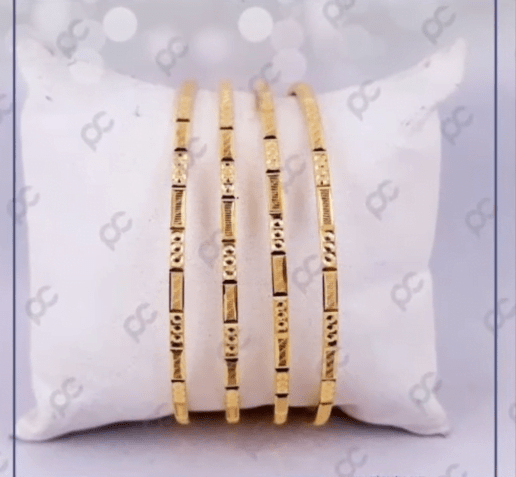 Exclusive gold bangles designs 7