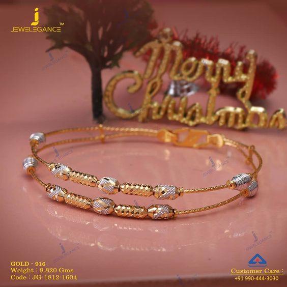 Gold bangle with unique designs1