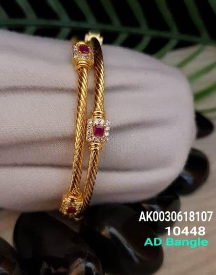 Gold bangle with unique designs11