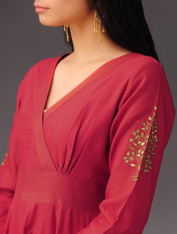 unique model red kurti