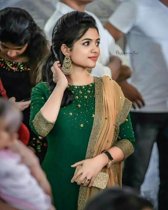 green party wear designer kurti
