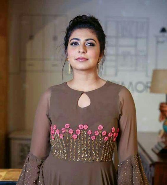 bell sleeve party wear kurti
