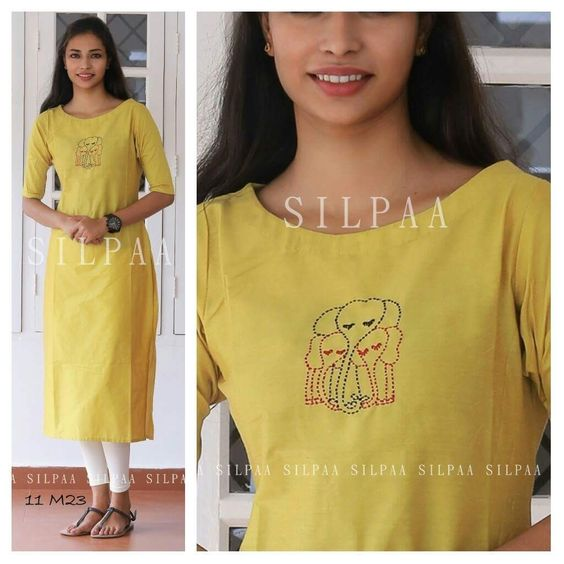 yellow casual cotton top