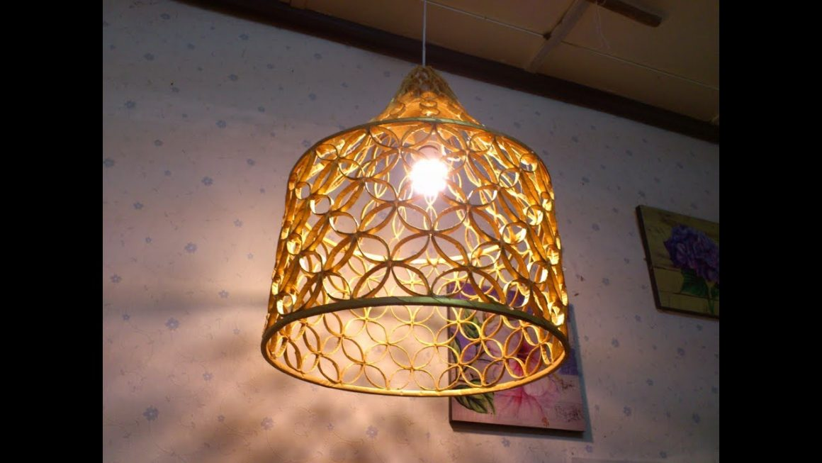Lamp made from reused paper 1