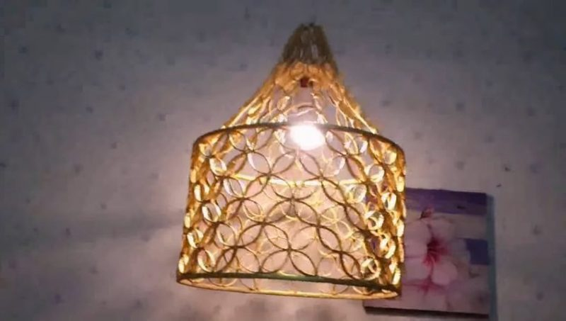 Lamp made from reused paper 23