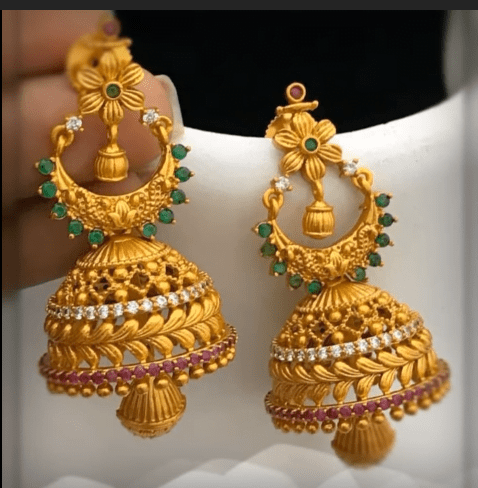 Latest beautiful antique gold jhumka designs 2